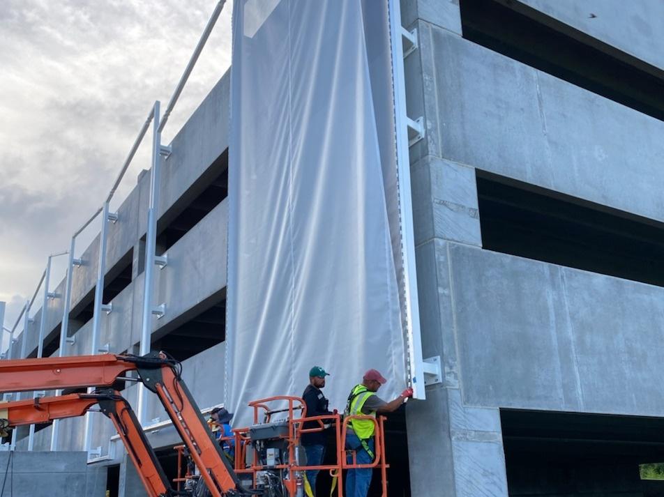 tensile membrane facade PVC Membrane
