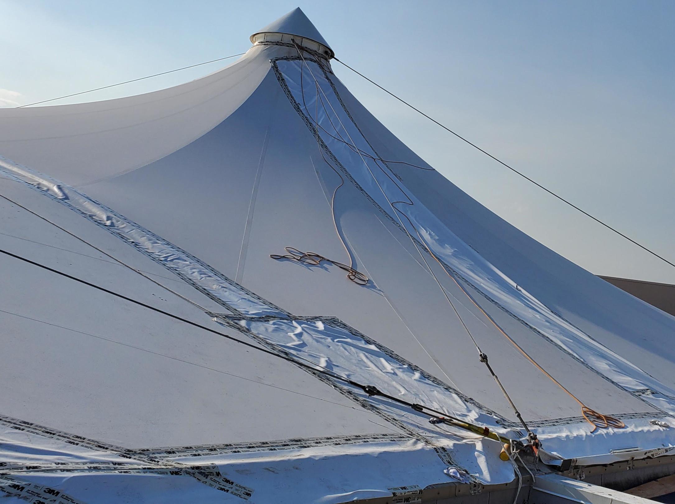 Birdair PTFE Roof Replacement Big Span Fabrication