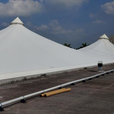 Big Span tensile membrane fabrication Birdair Tensile Structure PTFE