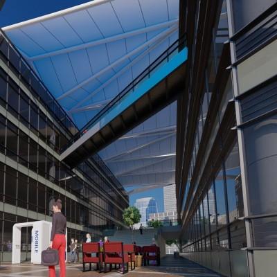 PTFE Tensile Architecture Big Span
